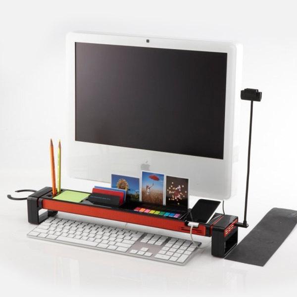 Black iStick Creative Computer Keyboard Space-Saving Rack