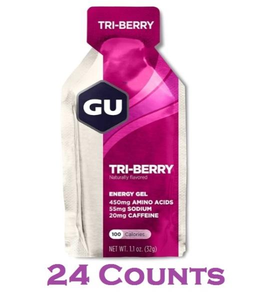 Buy GU Energy Original Sports Nutrition Energy Gel, Tri-Berry, 24 Count Box Singapore