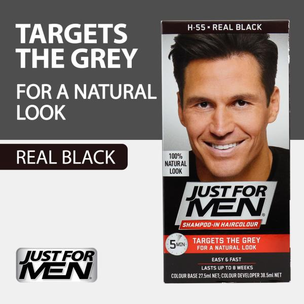 Buy Just For Men Shampoo-In Hair Color - Real Black Singapore