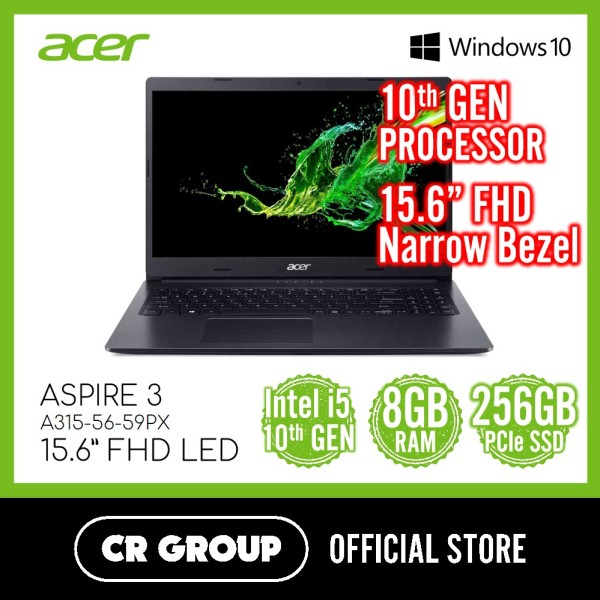 Acer Aspire 3 A315-56-59PX 15.6 FHD LED | i5-1035G1 10th Gen | 8GB DDR4 RAM | 256GB PCle NVMe SSD | Intel UHD Graphics