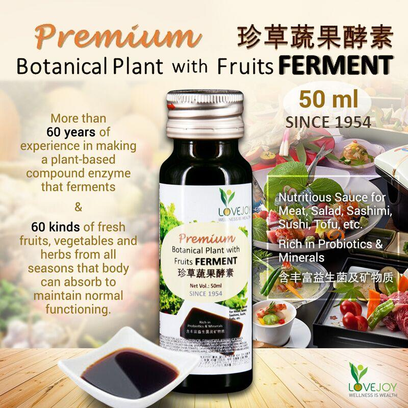 Lovejoywellness: Enzyme Sauce>>>365 Days Mozart Fermentation Process**premium Botanical Plants With Fruits Ferment Sauce**rich In Probiotics N Minerals @50ml/bottle (product Of Japan) By Lovejoy Wellness.