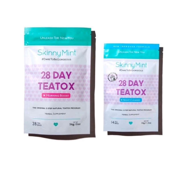 Buy SkinnyMint 28Day Teatox Set(Morning Boost+NightCleanse) Singapore