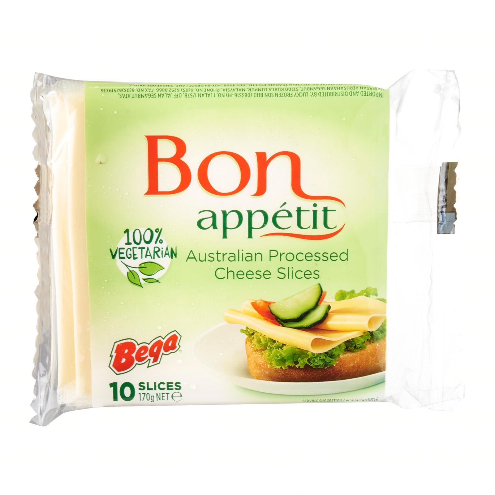 Bega Bon Appetit Vegetarian Processed Cheese Slices 10 Pcs