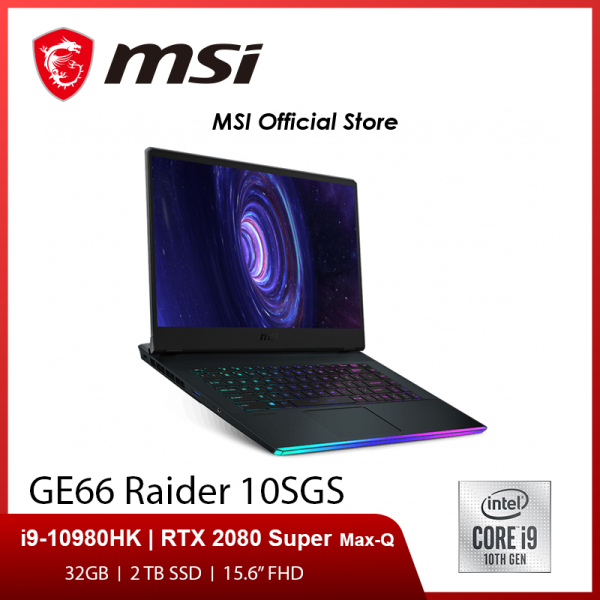 (SAME DAY DELIVERY)MSI GE66 Raider 10SGS (i9-10980HK / RTX2080 Super Max-Q GDDR6 8GB / 32GB / 2TB SSD) 15.6FHD 240Hz (2Y)