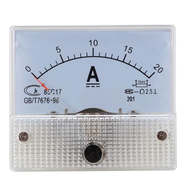 DC 0-20A Analog Amp Meter Ammeter Current Panel + 20A 75mV Shunt Resistor cao cấp