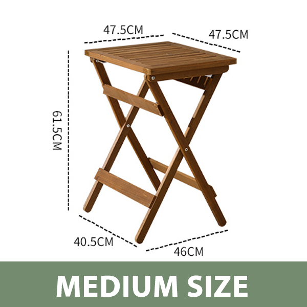 Classic Wooden Folding Foldable Portable Balcony Table - Original (Brown)