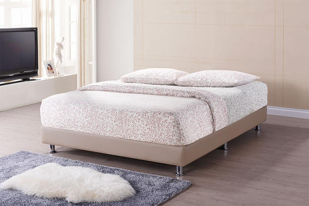 DIVAN BED BASE | Queen size | With 6 inches metal legs | Sandstone color | Limited stock | Fast delivery
