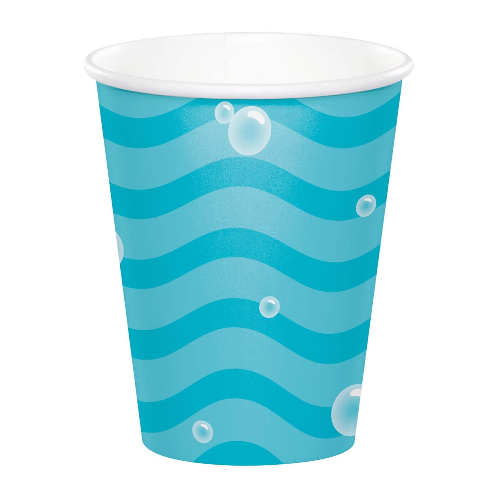 Creative Converting Narwhal Party 9 Oz Paper Cups 8PCS/Pack