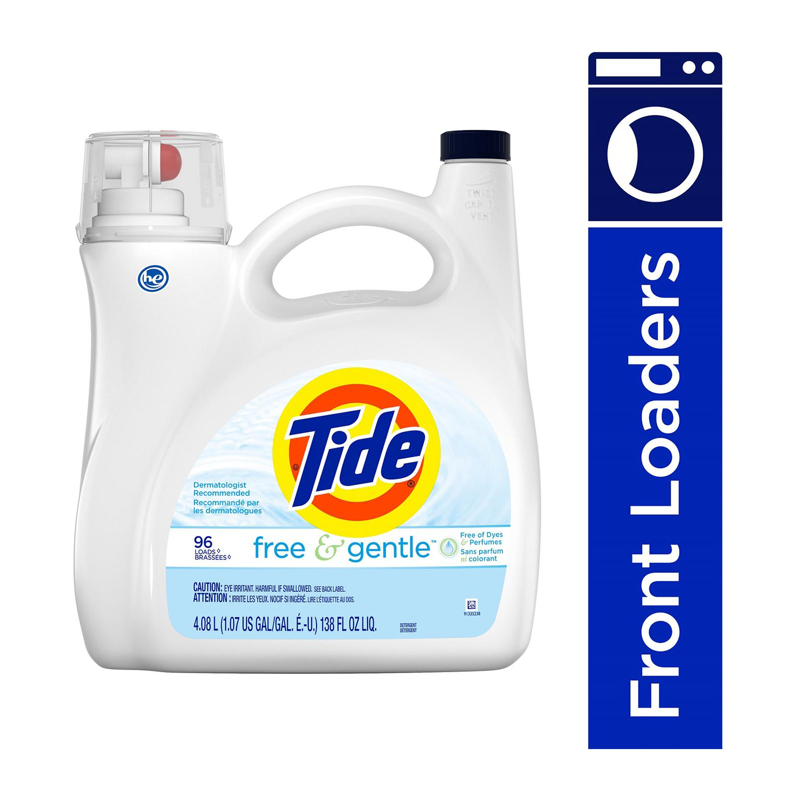 Tide Free And Gentle Liquid Laundry Detergent 4.08L