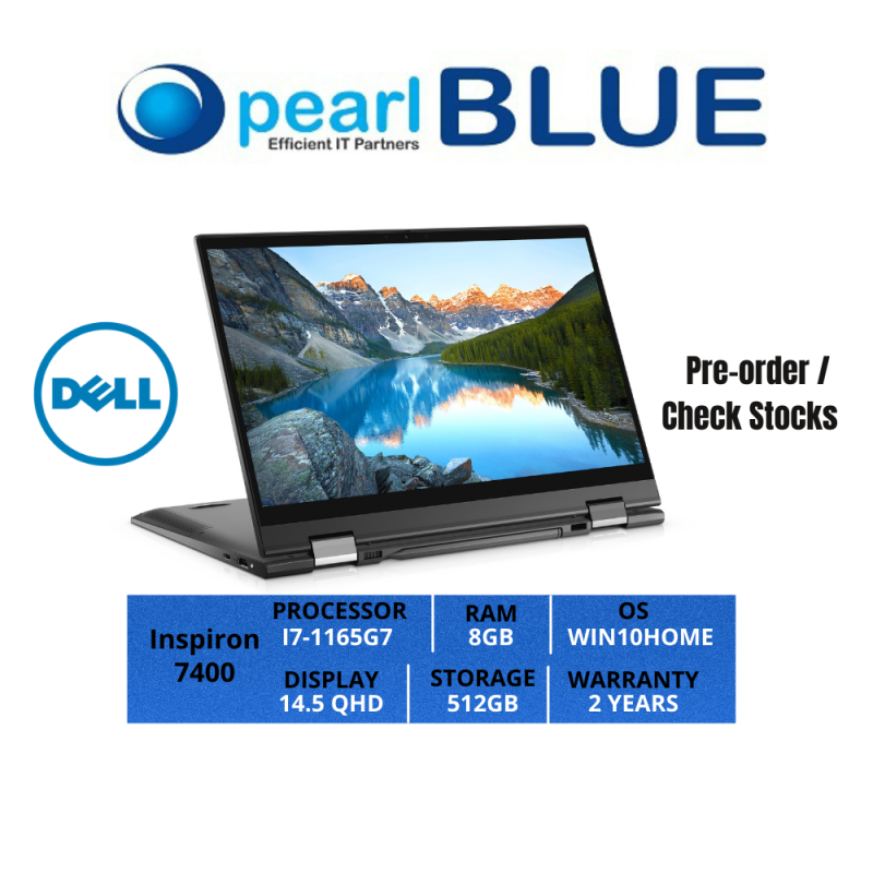 Dell Inspiron 14 | 7400 | I7-1165G7 | 8GB | 512GB | 14.5 QHD | 1.26KGS | WIFI6 | WIN10HOME | 2 YEARS WARRANTY