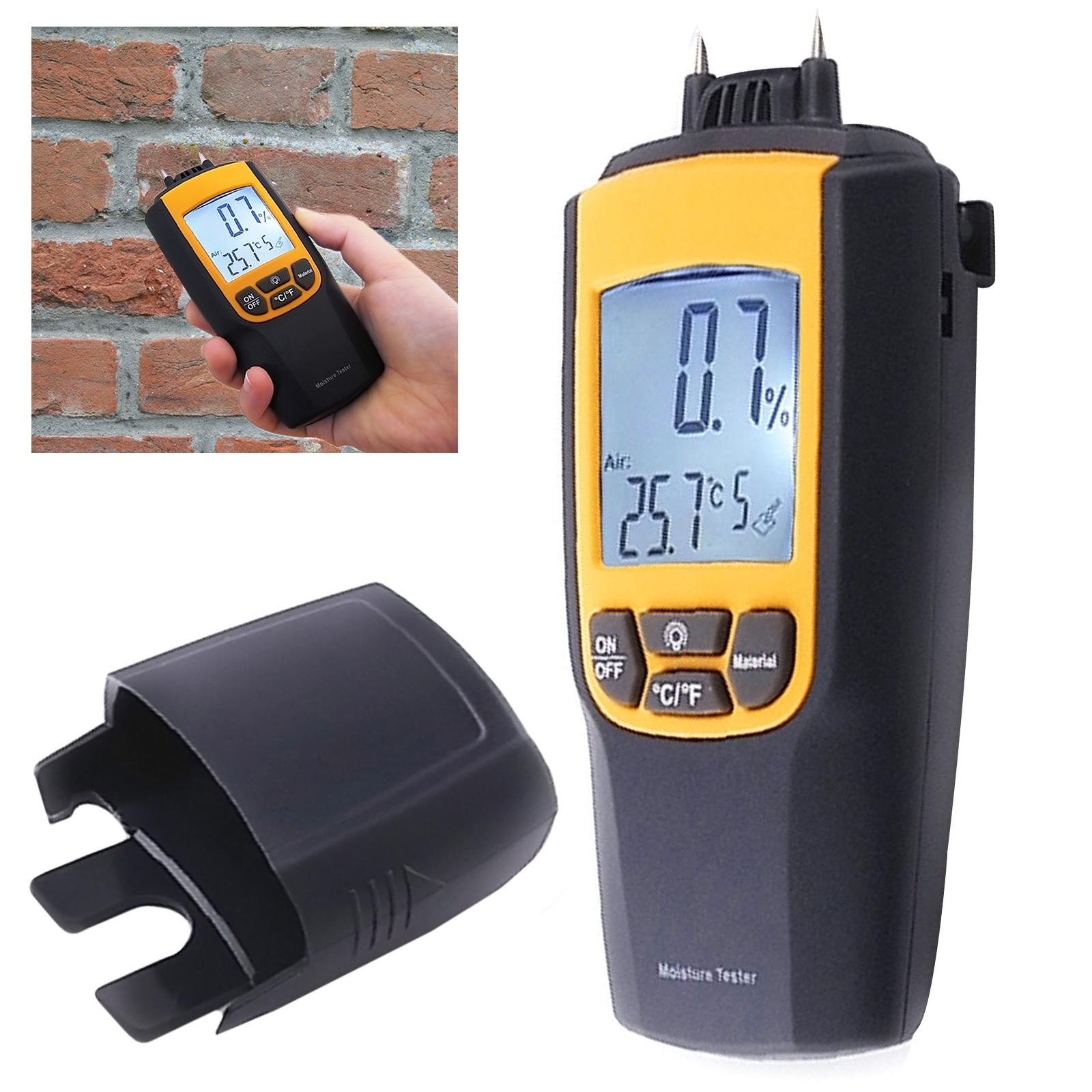VA-8040 Gain Express Moisture & Temperature Meter Wood Bricks Concrete Cement Lime Mortar °C °F CE Marking Dual Meter Tester - Intl