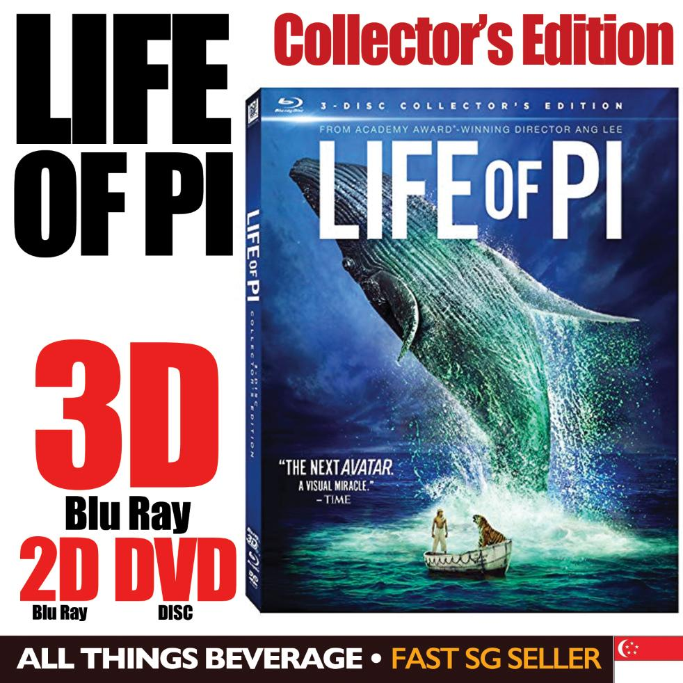 Life of Pi Blu Ray 3D Collectors Edition 3 Disc