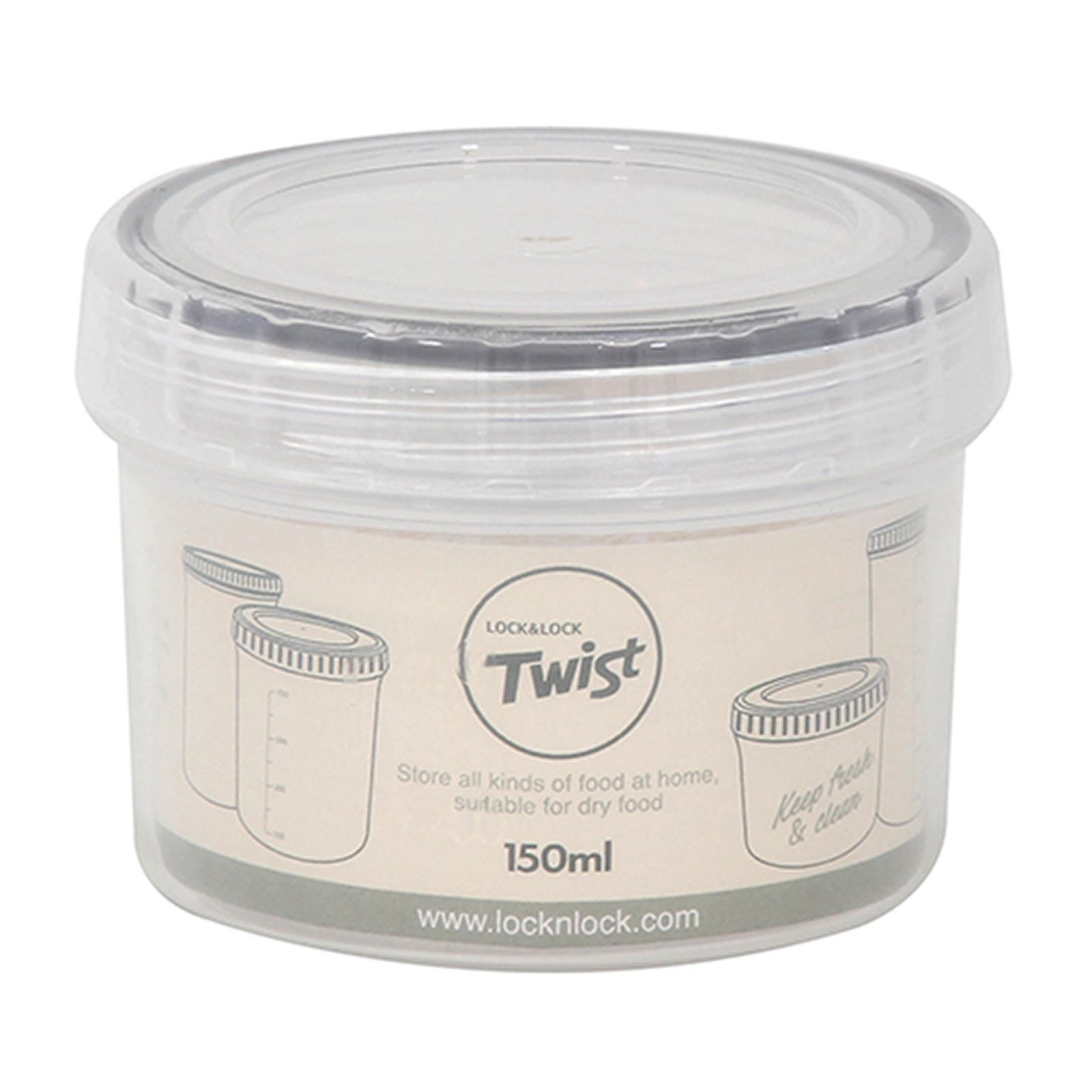 LOCK & LOCK Twist Container 150Ml White