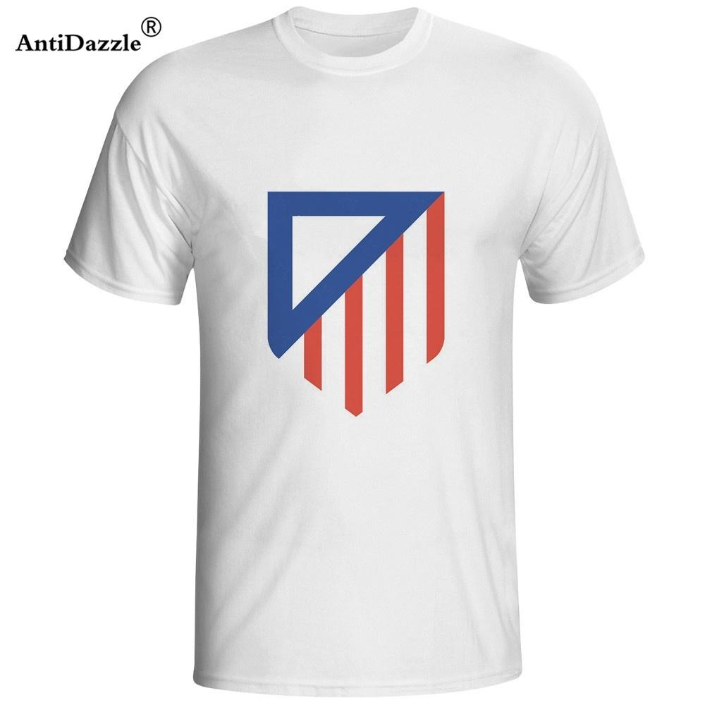 074e725df New Arrivals Summer atletico madrid shirt Men s Short Sleeve T shirt T shirt  Printed Letter Punk