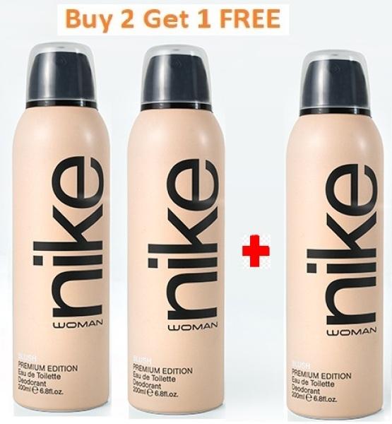 Buy Buy 2 Get 1 FREE - Nike Blush Woman edt perfume Deodorant 200 ml Singapore