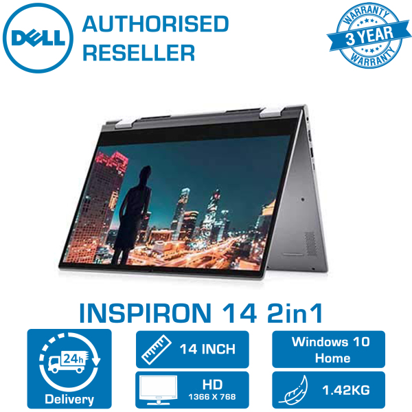 DELL INSPIRON 14 2in1 Gray (i7-2021 CPU | 16GB | 512GB | INTEL Xe | 14 | WIN-10 | MS-OFFICE 365P) 3YRS WRNTY