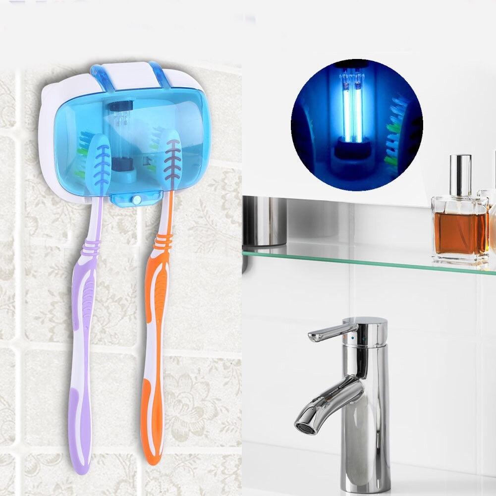 Toothbrush Holder Wall Mounted Uv Light Sterilizer Portable Bath Supplies