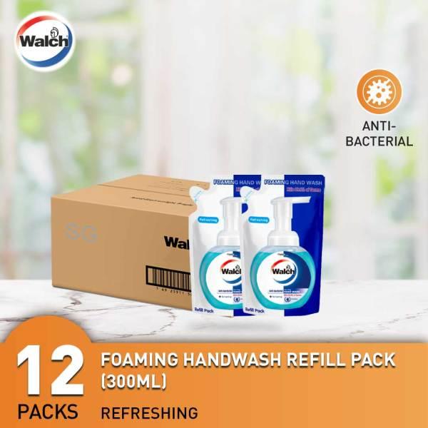 Buy Walch Foaming Handwash Refill Pack 300ml x 12 Packets | Kills 99.9% Germs Singapore
