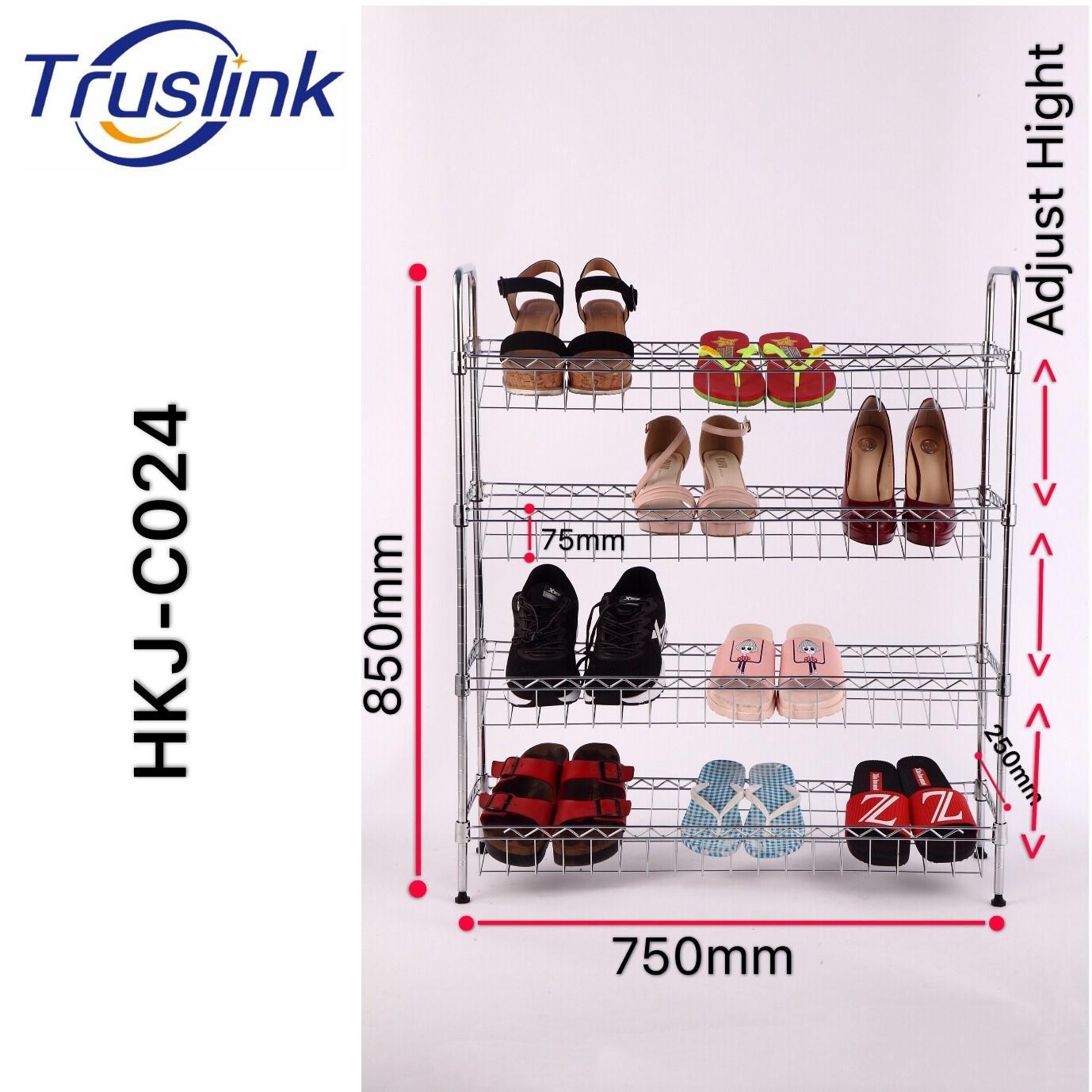 [SG Seller] Truslink  4 Tiers Waterproof Anti-corrosion Height Adjustable Simple Shoe Rack Assembled Multi Layer Cheap Modern minimalist shoe rack storage rack----Linear Space HKJ-C024