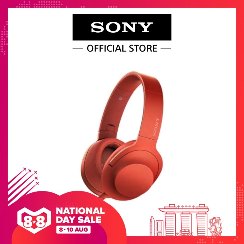 Sony Singapore MDR-100AAP/ MDR100AAP Over-The-Ear Headphone (Red) Singapore