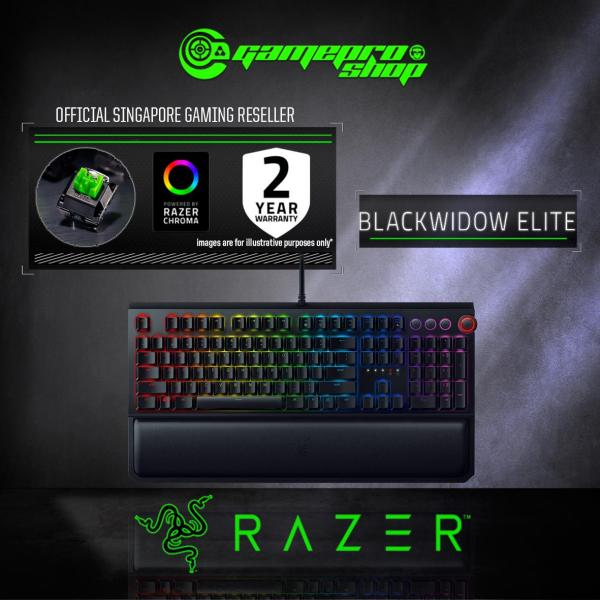 Razer Blackwidow Elite Mech Gaming Keyboard (Green / Yellow / Orange) (2Y) Singapore