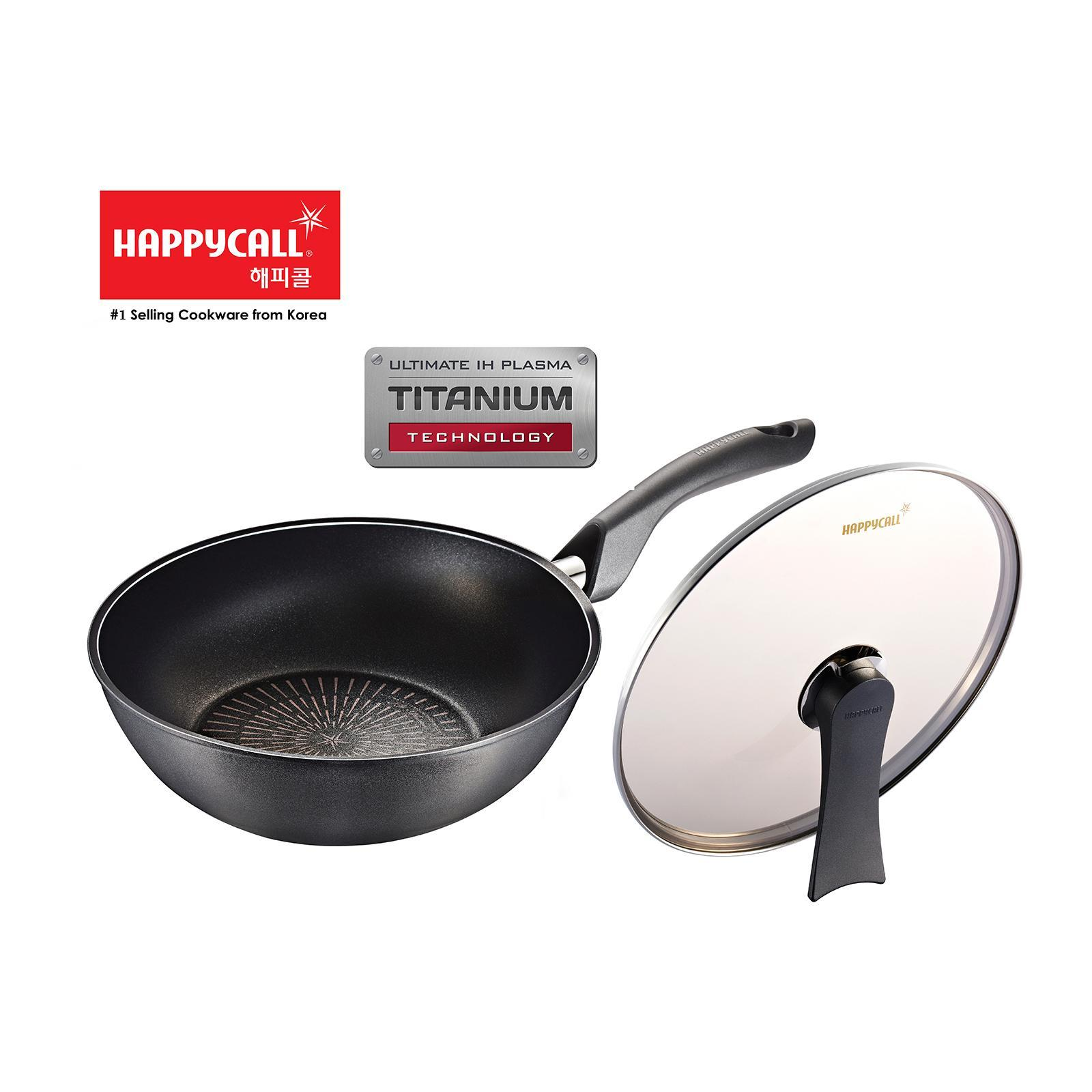 Happycall Ultimate Ih Plasma Wok Pan With Lid 28Cm - By ToTT