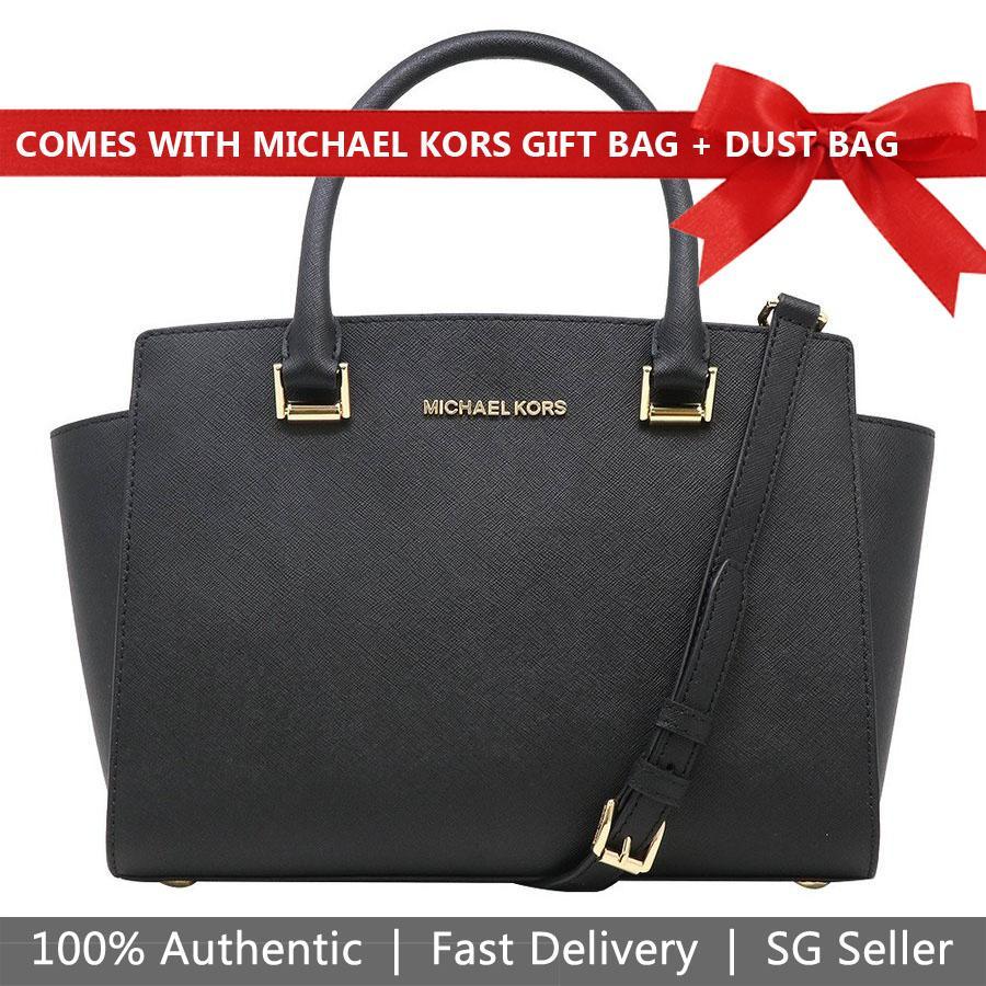 69b8702e43 Michael Kors Crossbody Bag With Gift Bag And Dust Bag Selma Medium Top Zip  Saffiano Leather