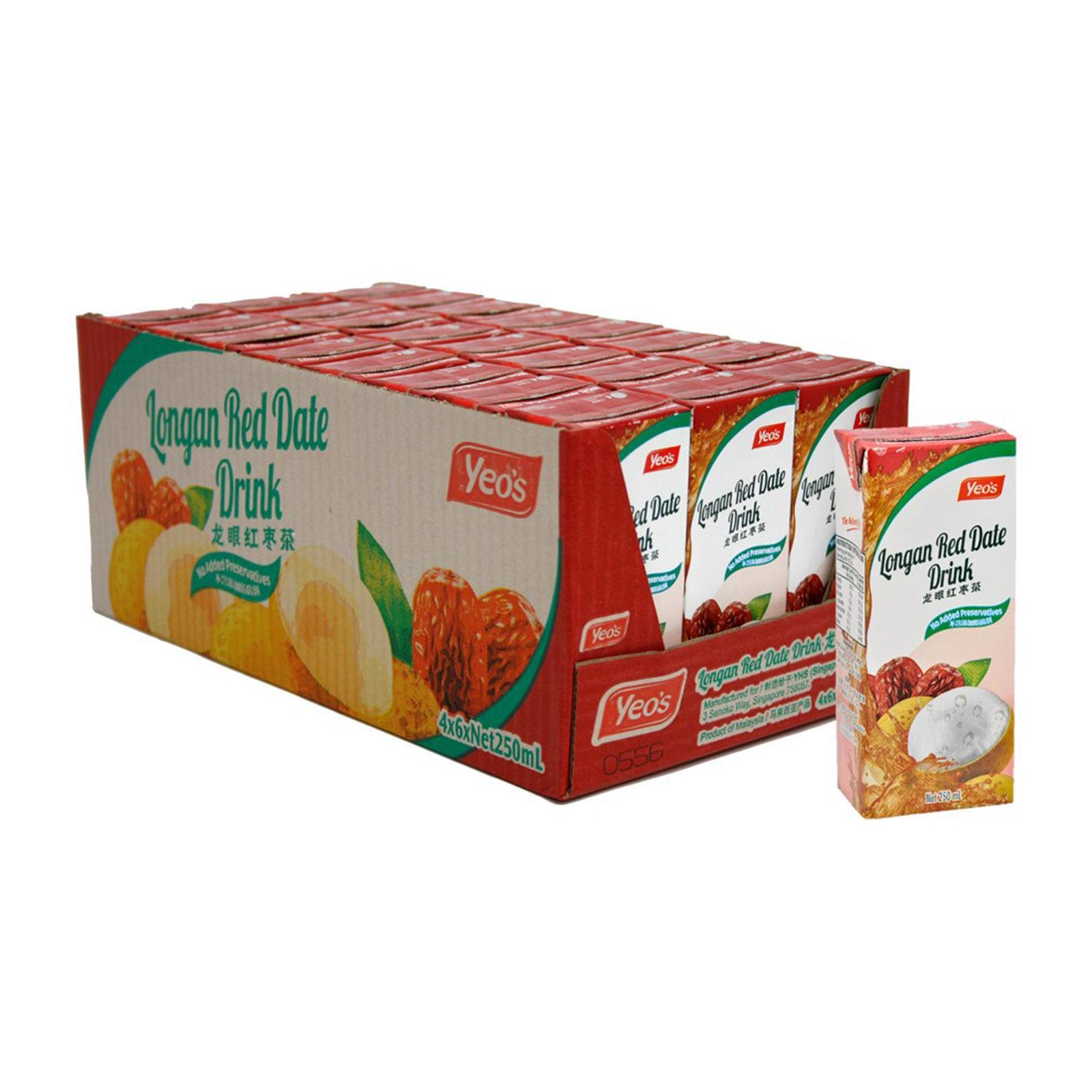 YEO'S Longan Red Date Drink 24sX250ml