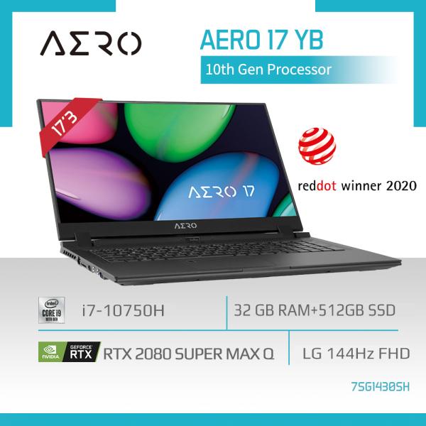 GIGABYTE AERO 17 YB (i7-10750H/32GB DDR4 2933 (16GBx2)/GeForce RTX 2080 Super GDDR6 8GB Max-Q/512GB M.2 PCIE SSD/17.3inch Thin Bezel 144Hz IPS Display/WINDOWS 10 HOME) [Ships 2-5 days]