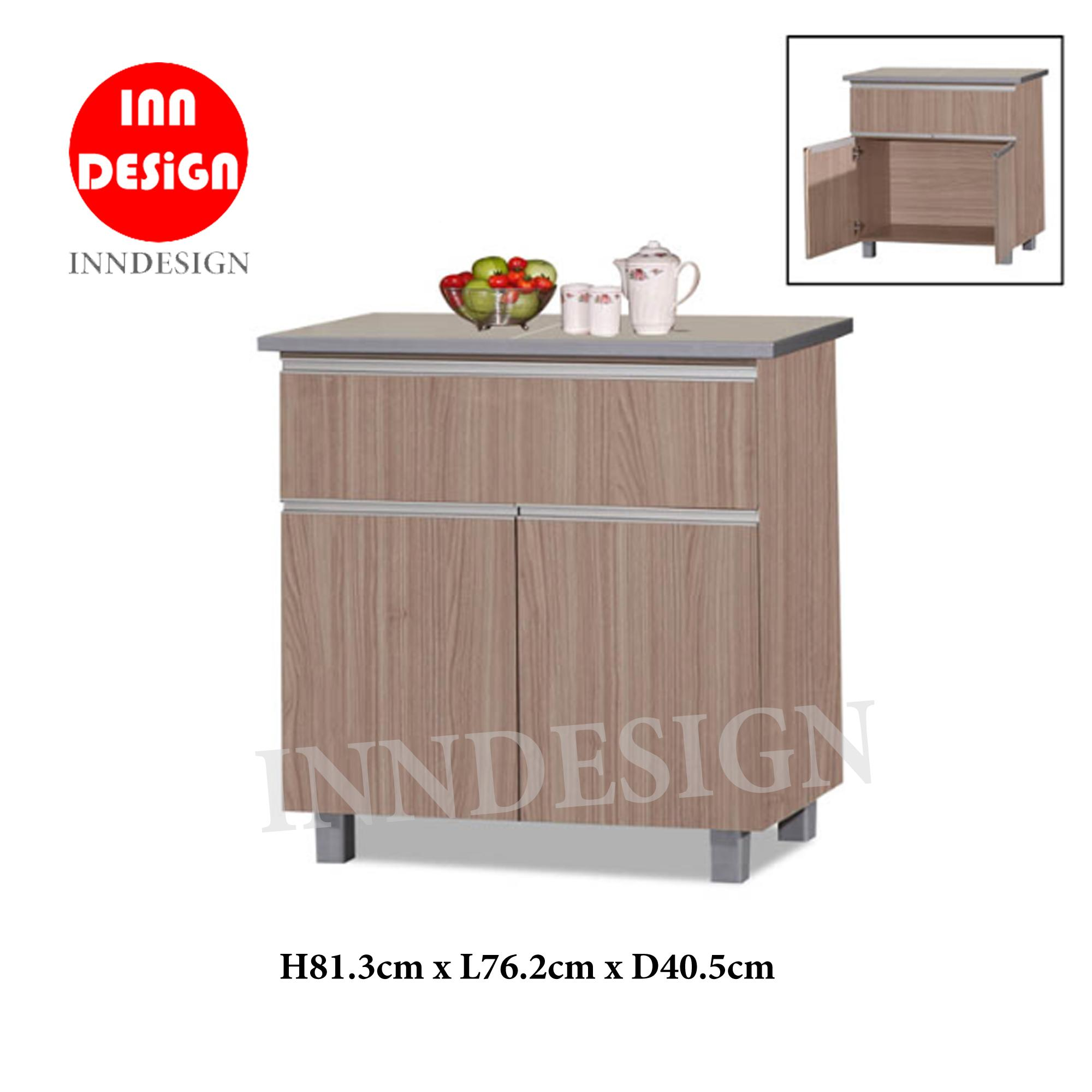 KINNO 2 Doors Kitchen Cabinet With Tiles Top (Free Delivery and Installation)