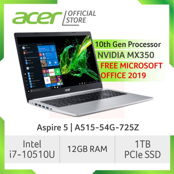 Acer Aspire 5 A515-54G-725Z Laptop with LATEST 10th Gen Intel Core i7-10510U Processor and 12GB RAM