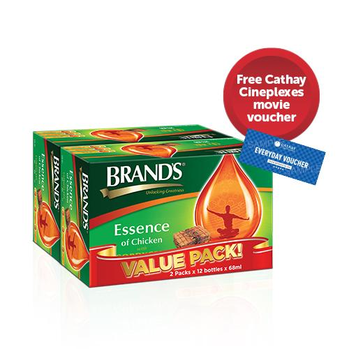 [free Cathay Cineplex Movie Voucher] Brands® Essence Of Chicken With Cordyceps 24s X 68ml By Brands Official Store