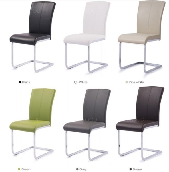 KIRK Contemporary S Shape Faux Leather Dining Chair