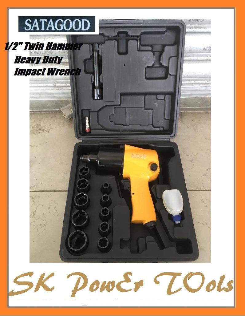 SATAGOOD 576N.M 14pc 1/2H.D Twin Hammer Air Impact Wrench kits
