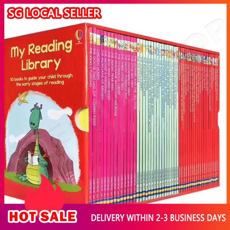 Usborne: My second reading library box set -50 books c1