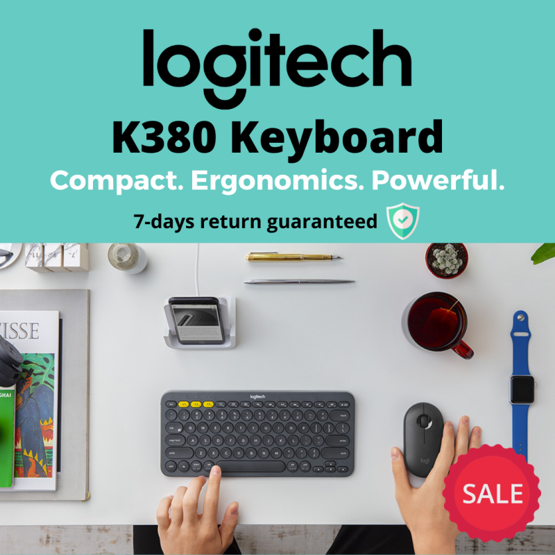 Logitech K380 Compact Multi-Device Bluetooth Keyboard (Windows, Mac, Chrome, Android, IOS,Apple TV 2nd or 3rd generation) Singapore
