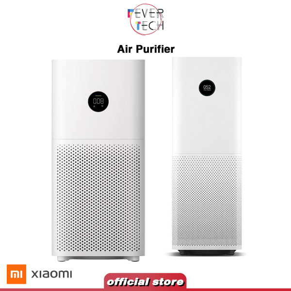 Xiaomi Mijia Air Purifier 3H Digital LED Touch Display 360 Degree Circulation Purification with Google Alexa Control and Air Purifier Pro Smart LED Touch Display 360 Degree High Precision Laser Sensor with Mi Home APP Control, White Singapore