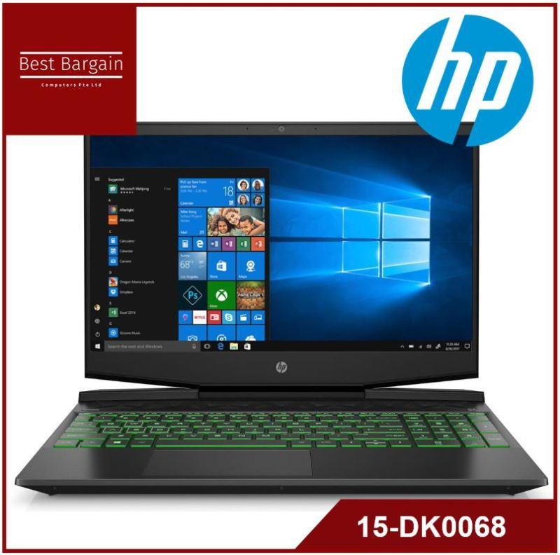 HP Pavilion 15.6 FHD Gaming Laptop, Intel Core i5-9300H, NVIDIA GeForce GTX 1050 (3 GB GDDR5), 8GB SDRAM, 256GB SSD, Shadow Black, Acid Green, 15-dk0068