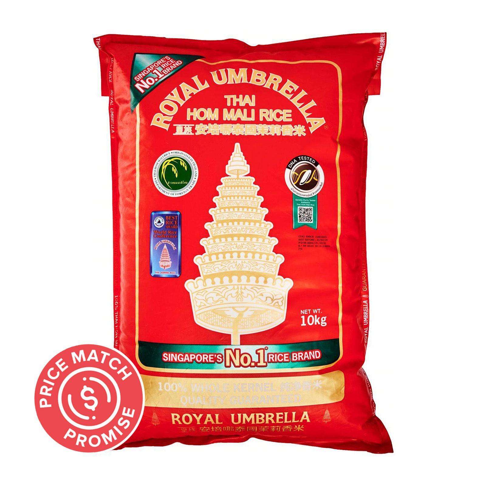 ROYAL UMBRELLA Thai Hom Mali Fragrant Rice 10kg