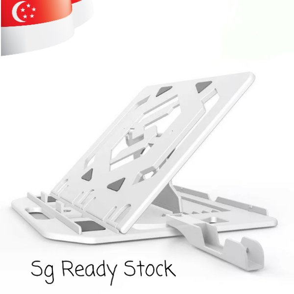 [Local Seller] Laptop Holder/Tablet Holder Plus Mobile Phone Holder.Adjustable Angles.Compact Design.Anti Slip