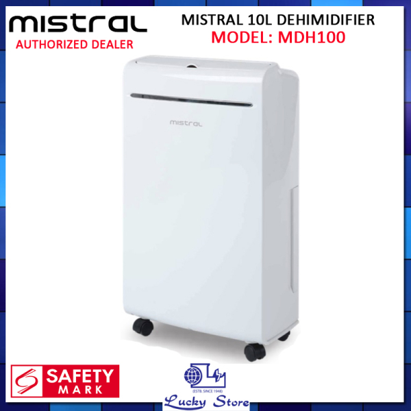 (Bulky) MISTRAL MDH100 10L DEHIMIDIFIER  WITH IONIZER AND UV LIGHT, 1 YEAR WARRANTY, FREE DELIVERY Singapore