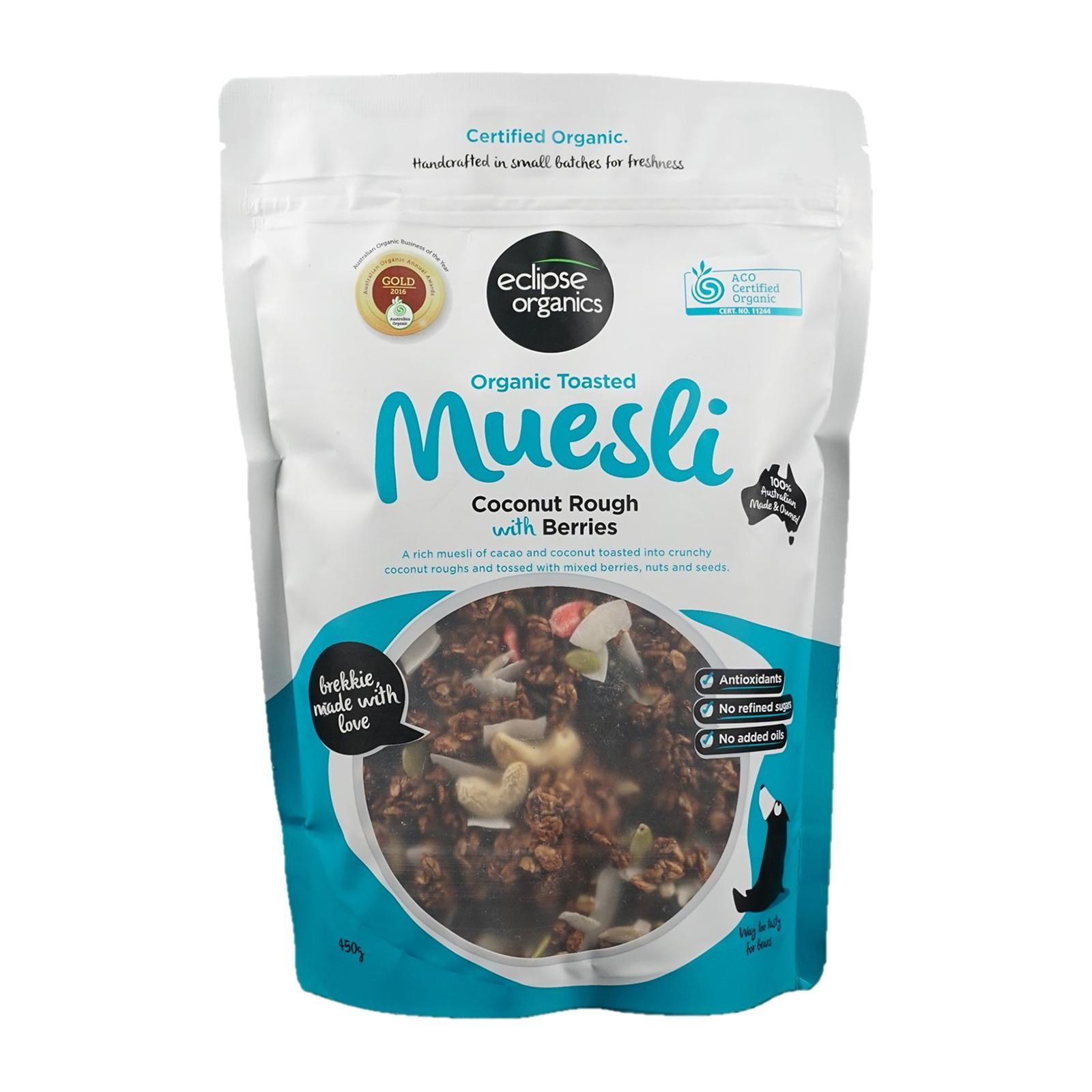 Eclipse Organic Toasted Muesli Coconut Rough With Berries