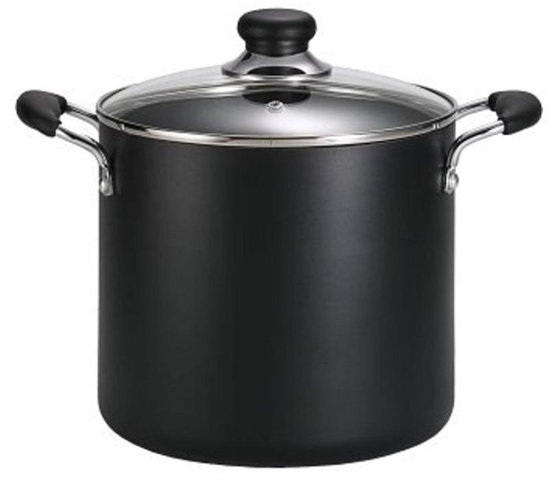 T-fal A92279 Specialty Total Nonstick Dishwasher Safe Oven Safe Stockpot Cookware, 8-Quart - from USA - intl Singapore