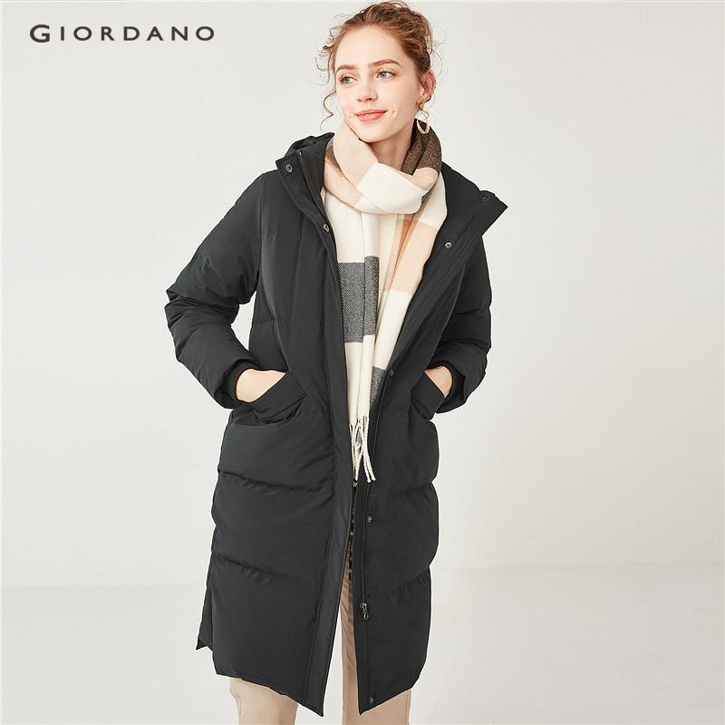 Giordano Women Detachable Hood Long Down Jackets [free Shipping] 05378704 By Giordano Official.