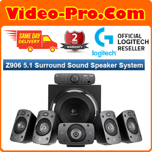 [Free Same Day Delivery*] Logitech Z906 Gaming speaker THX Certified 5.1 Speaker System - 500-watts (RMS) of power Wireless Remote (*Order before 2pm on Working Day, will Deliver on Same Day, Order After 2pm, will Deliver Next Working Day.)
