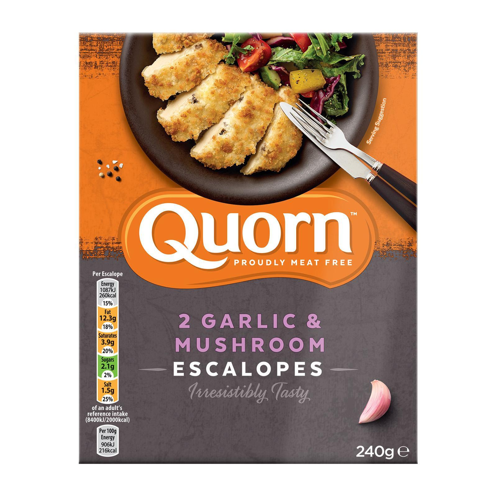 Quorn Creamy Garlic And Mushroom Escalope - Frozen By Redmart.
