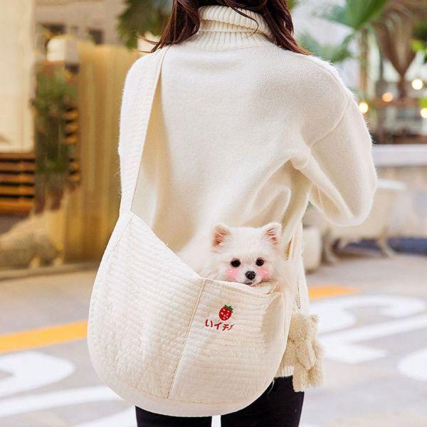 XZCVXVC Dễ thương Thời trang Túi xách tay Đồ dùng ngoài trời cho thú cưng cho Puppy, Kitten Lưới thép Cat Slings Pouch Túi thú cưng Người vận chuyển chó Túi đeo vai đơn