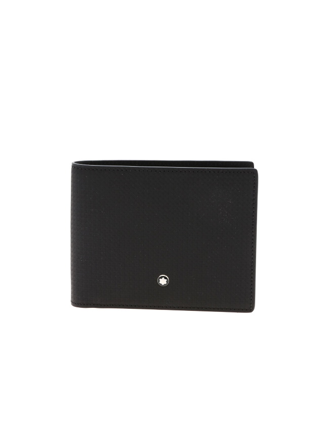 Montblanc Leather Wallet Extreme 123945 (6cc, RFID, Black Colour)