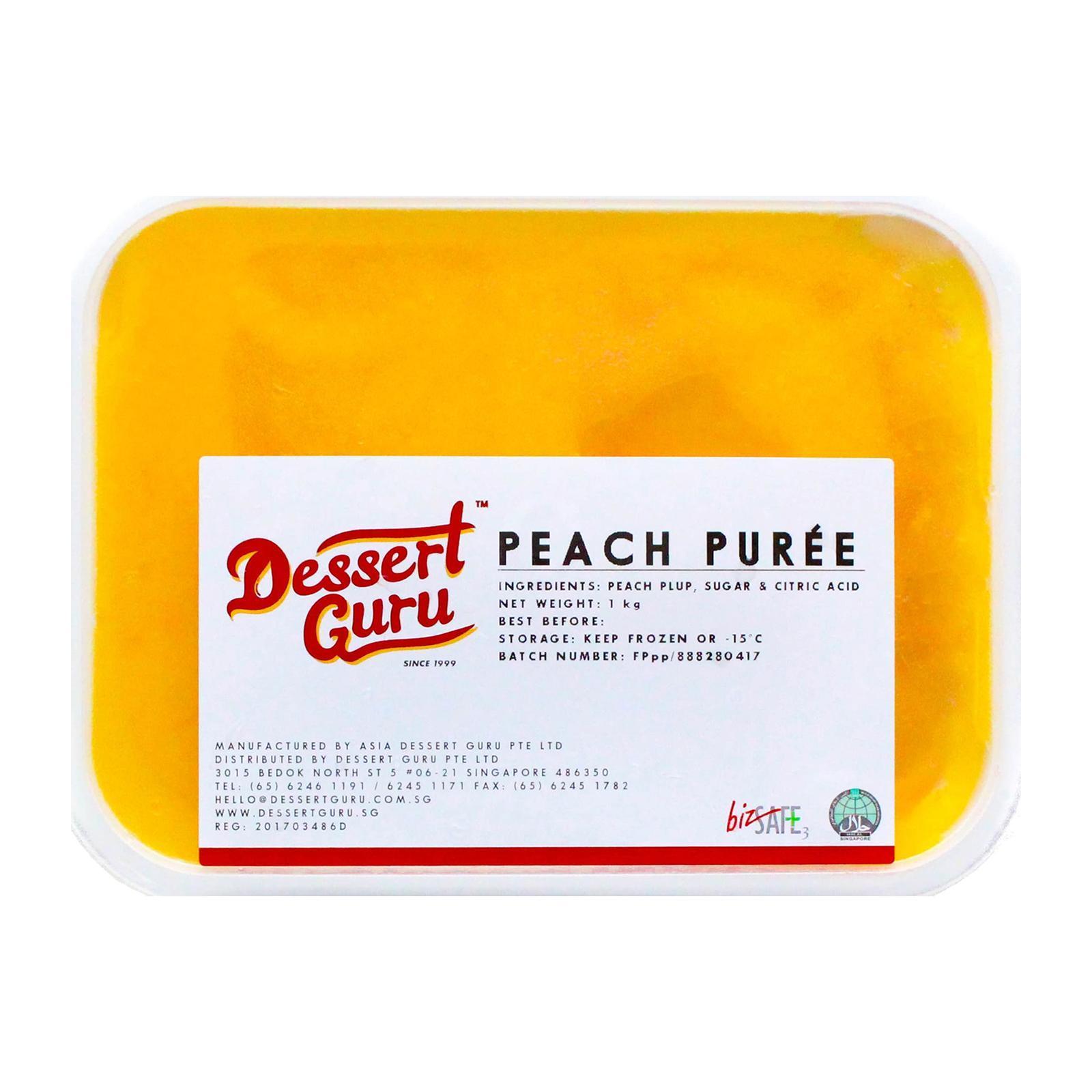 Dessert Guru Peach Puree - Frozen By Redmart.