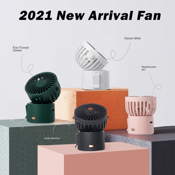 2021 New Arrival F852 Ever-Changing Desktop Spray Dual-Port Angle Adjustment Three-Gear Usb small Fan | Easy to Carry | Hanging Neck Fan